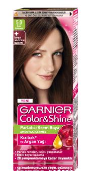 Garnier Color Shine Saç Boyası 5 Açık Kestane Kıbrıs Kozmetik